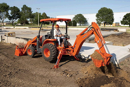 Where to find BACKHOE  KUBOTA L45 in Andover