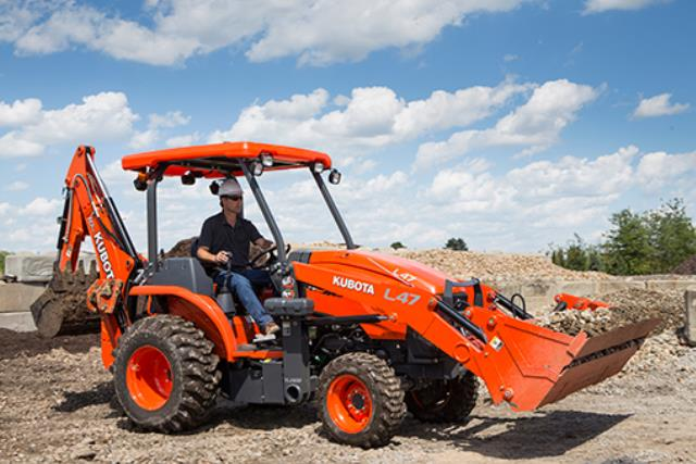 Where to find BACKHOE  KUBOTA L47  01 in Andover