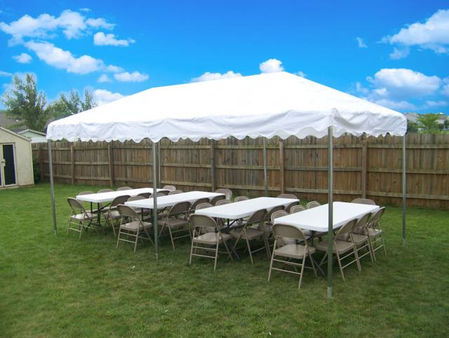 Where to find FRAME TENT 10X20  WHITE  CENTRAL in Andover